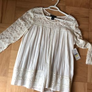 Tops - Karen Kane off white sheer blouse
